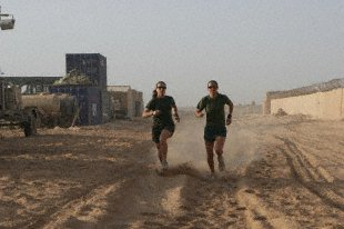 Running at Camp Leatherneck